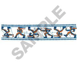 SKI BORDER embroidery design