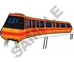 MONORAIL embroidery design
