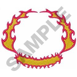 FIRE FLAME CREST embroidery design