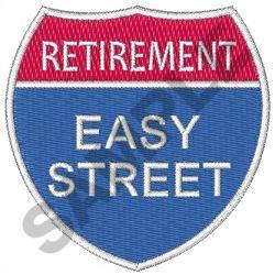 RETIREMENT EASY STREET embroidery design