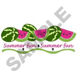 WATERMELON SUMMER FUN embroidery design