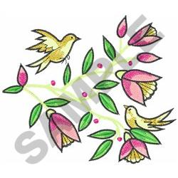 TAPESTRY BIRDS AND FLOWERS embroidery design