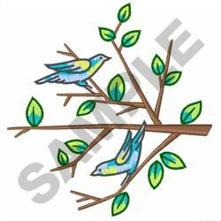 TAPESTRY BIRDS ON BRANCH embroidery design