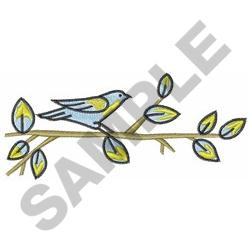TAPESTRY BIRD ON BRANCH embroidery design
