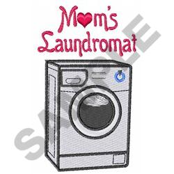 MOMS LAUNDROMAT embroidery design