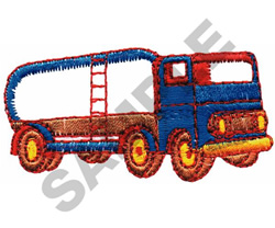 FUEL TRUCK embroidery design