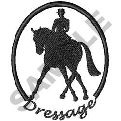 HORSE AND RIDER DRESSAGE embroidery design
