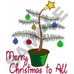 MERRY CHRISTMAS TO ALL embroidery design