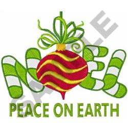 NOEL PEACE ON EARTH embroidery design