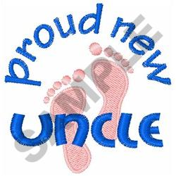 PROUD NEW UNCLE embroidery design