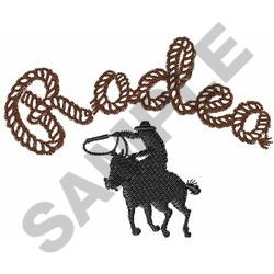RODEO CALF ROPING embroidery design