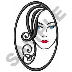 WOMAN IN MIRROR embroidery design