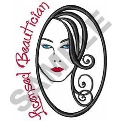 LICENSED BEAUTICIAN embroidery design