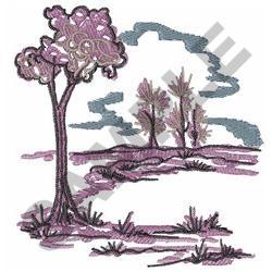 DELFTWARE LANDSCAPE embroidery design