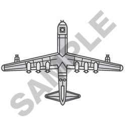 Aeroplane embroidery design