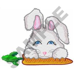 RABBIT AND CARROT embroidery design