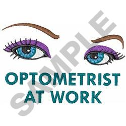 OPTOMETRIST AT WORK embroidery design