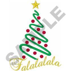 CHRISTMAS TREE FALALALALA embroidery design