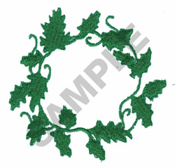 WREATH OF LEAVES embroidery design