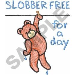 SLOBBER FREE embroidery design