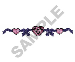 HEART STRING embroidery design