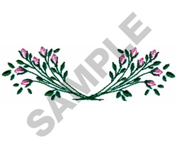ROSEBUD MONOGRAM BORDER embroidery design