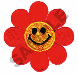 SMILEY FACE FLOWER embroidery design
