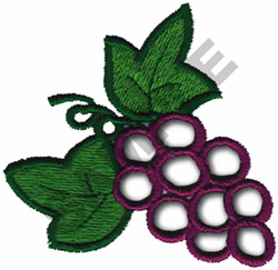 CUTWORK GRAPES embroidery design
