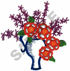 CUTWORK VASE embroidery design