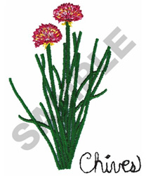 CHIVES embroidery design
