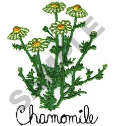 CHAMOMILE embroidery design