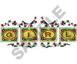 GIRL FLORAL DESIGN embroidery design