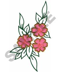 FLORAL APPLIQUE embroidery design