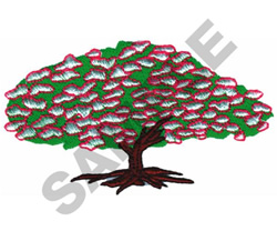 CHERRY BLOSSOM TREE embroidery design