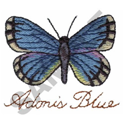 ADONIS BLUE embroidery design