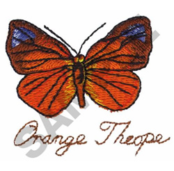 ORANGE THEOPE embroidery design