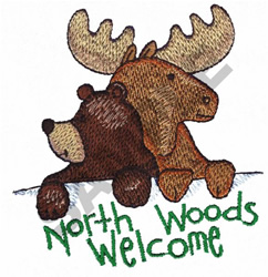 NORTH WOODS WELCOME embroidery design