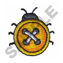LADYBUG BUTTON embroidery design