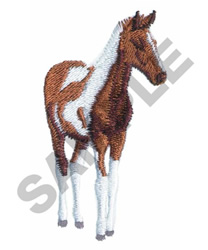 PAINTED FOAL embroidery design