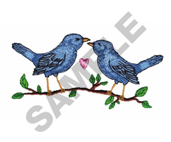 BIRDS KISSING embroidery design