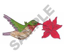 BIRD GETTING NECTAR embroidery design