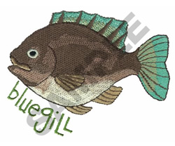 BLUEGILL embroidery design