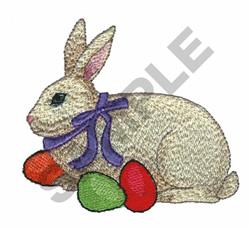 BUNNY W/EGGS embroidery design