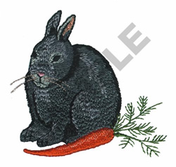 BUNNY WITH CARROT embroidery design