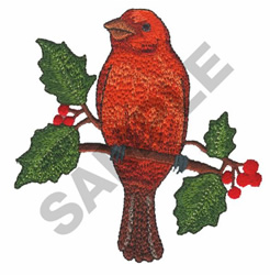 SCARLET TANAGER embroidery design