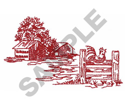 HEN HOUSES embroidery design
