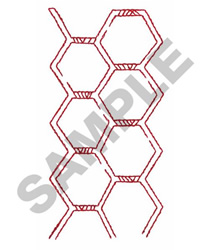 HEXAGON BORDER embroidery design