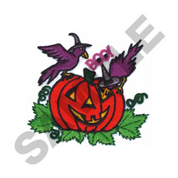 CROWS AND JACK-O-LANTERN embroidery design