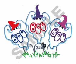 GHOSTING R.I.P. embroidery design