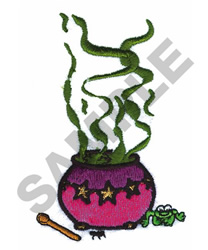 WITCHES POT embroidery design